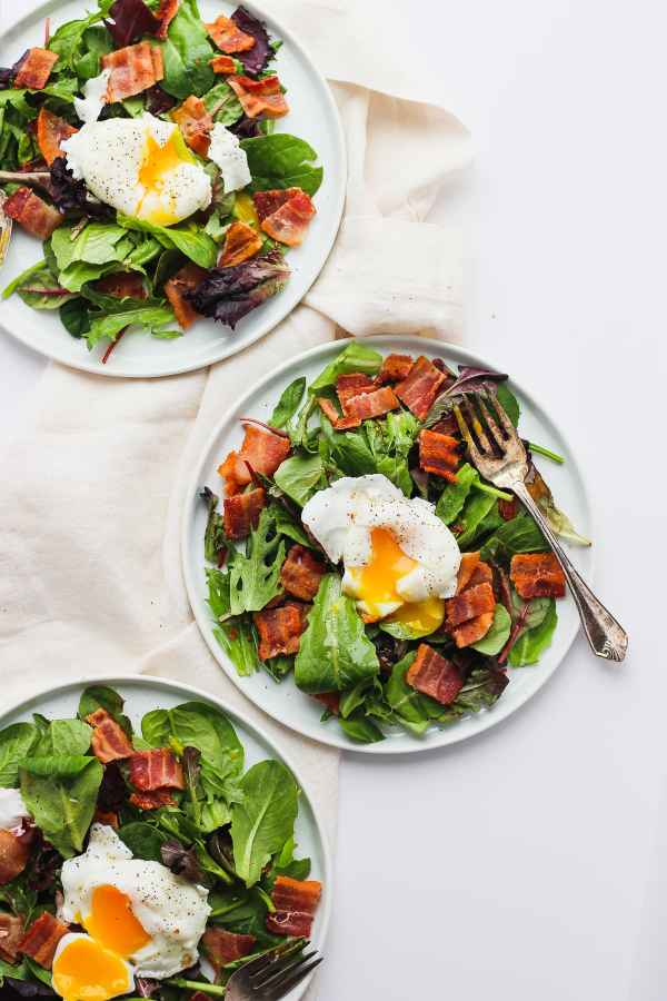 Whole30 Breakfast Salad with Poached Egg