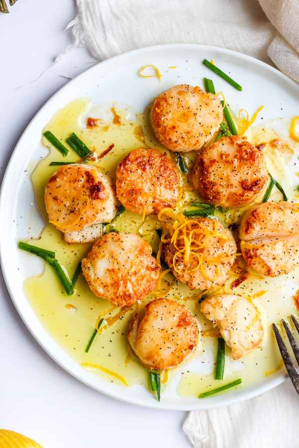 Fresh Lemon Butter Scallops