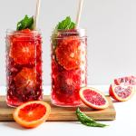 Refreshing Blood Orange and Mint Spritzer