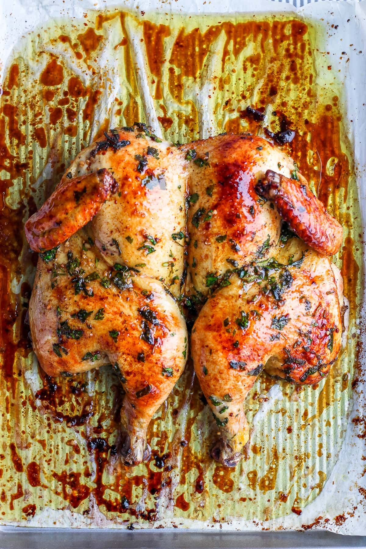 Sunday Dinner Butterflied Chicken - a quick and easy way to make a delicious chicken every time! #whole30 #paleo