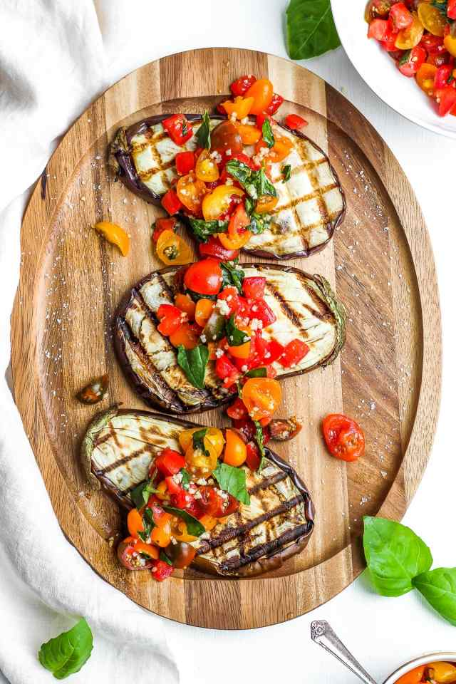 Delicious Grilled Eggplant Bruschetta
