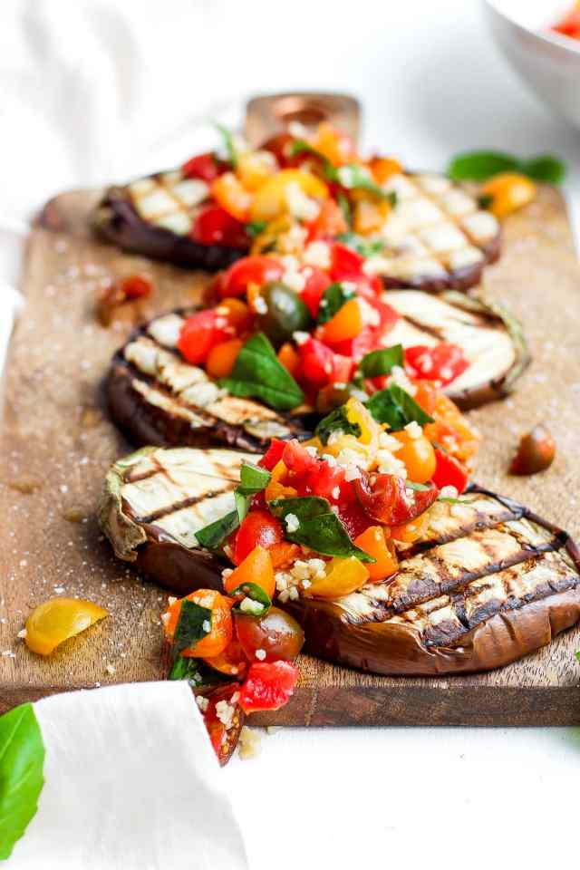 Delicious Grilled Eggplant Bruschetta