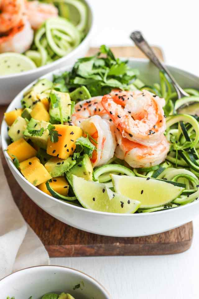 Light Citrus Buttered Prawns with Zoodles