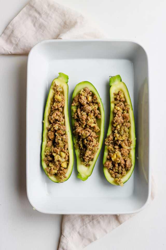 Healthy Stuffed Zucchini Boats
