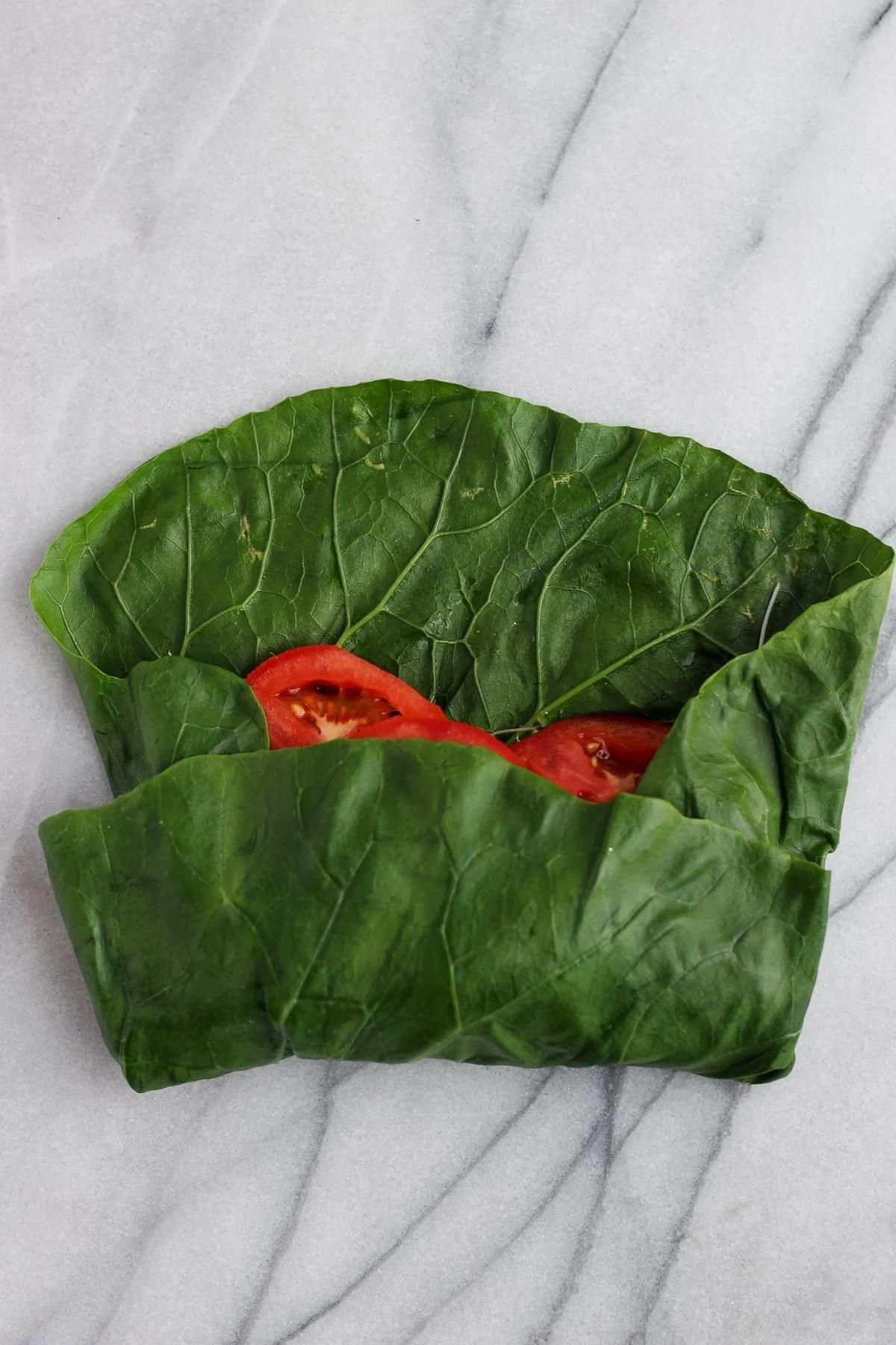 How to Prep Collard Green Wraps - a step by step tutorial! #collardgreenwrap