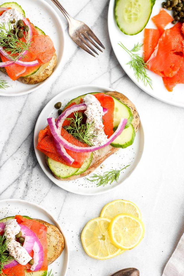 Light and Delicious Lox Breakfast Toast