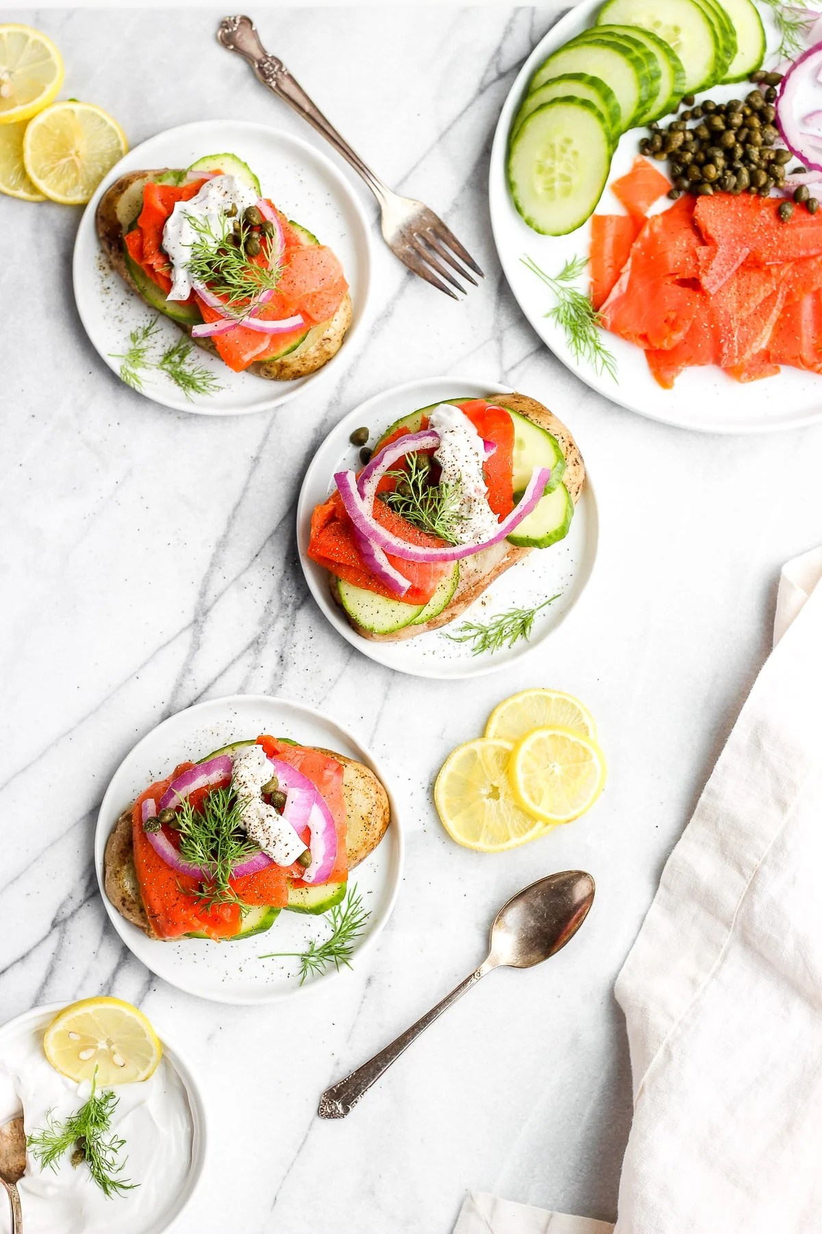 Light and Delicious Lox Breakfast Toast - the perfect eggless breakfast that is Whole30 and Paleo! #whole30recipes #paleo