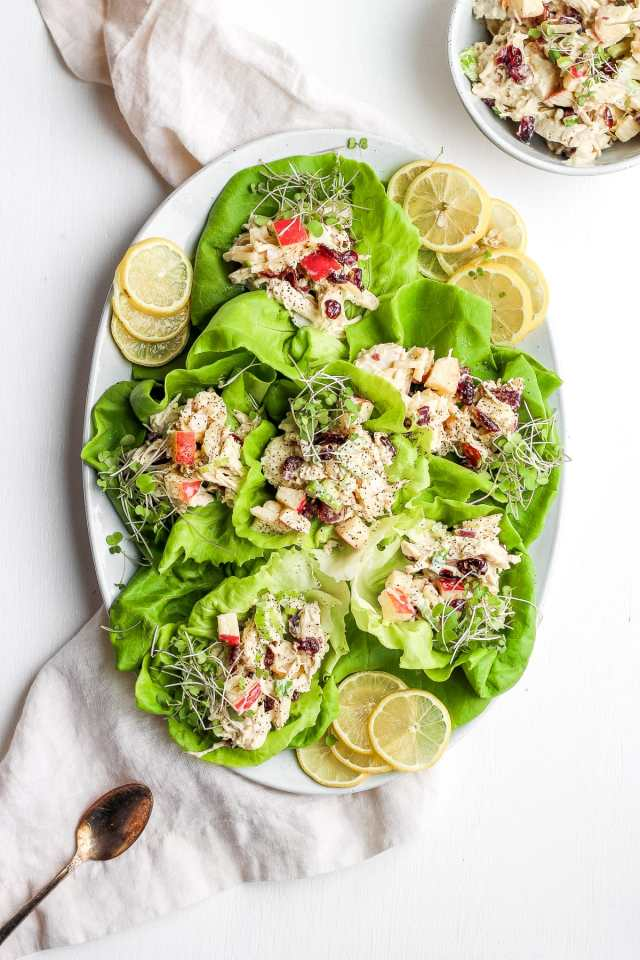 Make Ahead Apple Chicken Salad - the perfect meal prep salad! #whole30 #paleo
