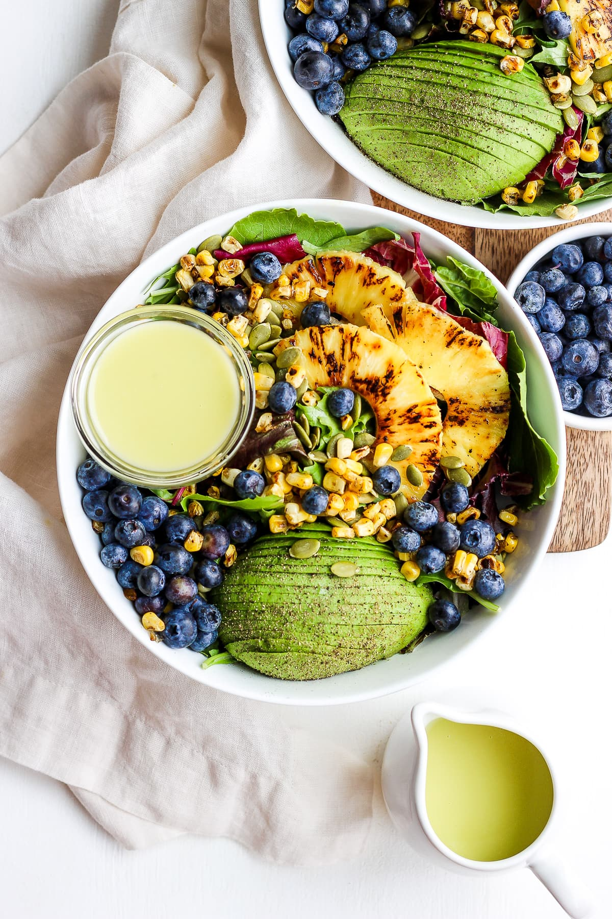 Creamy Citrus Dressing + Seared Pineapple Salad - a light and refreshing summer salad with the most delicious citrus dressing! #vegan #whole30 #paleo #salad