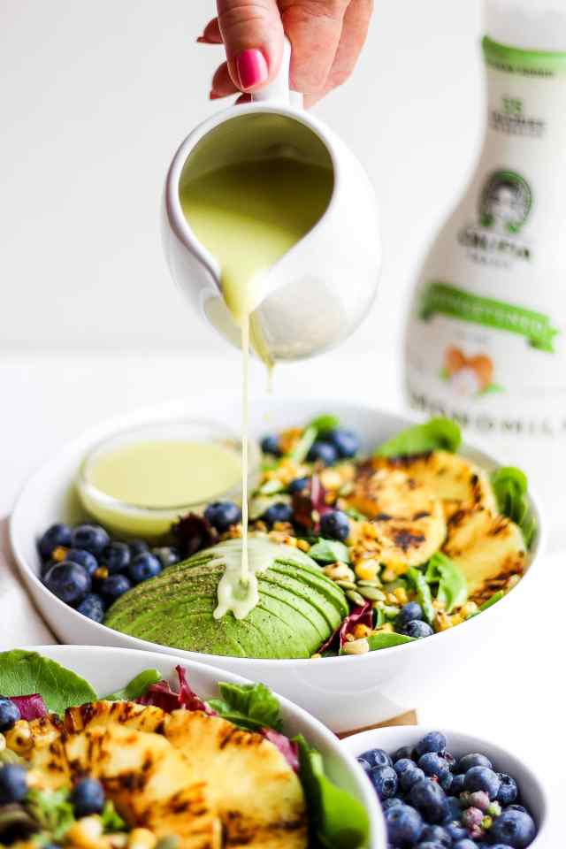 Creamy Citrus Dressing + Seared Pineapple Salad
