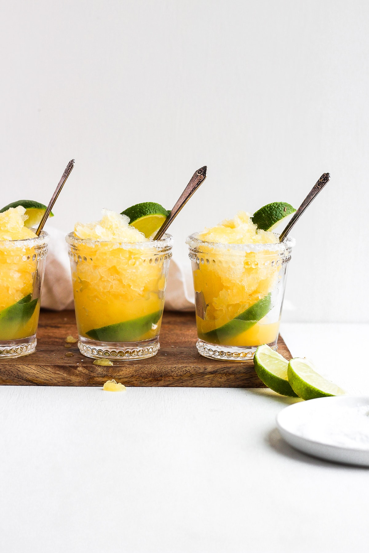Lemon Lime Citrus Granita - a sweet and simple dessert! #vegan #dairyfree