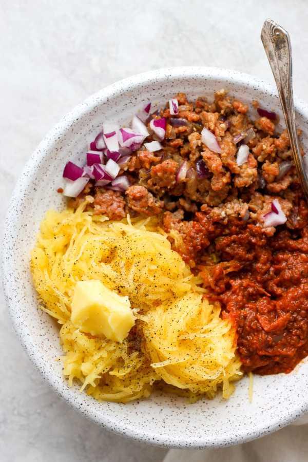 Easy Sausage Spaghetti Squash Bowls