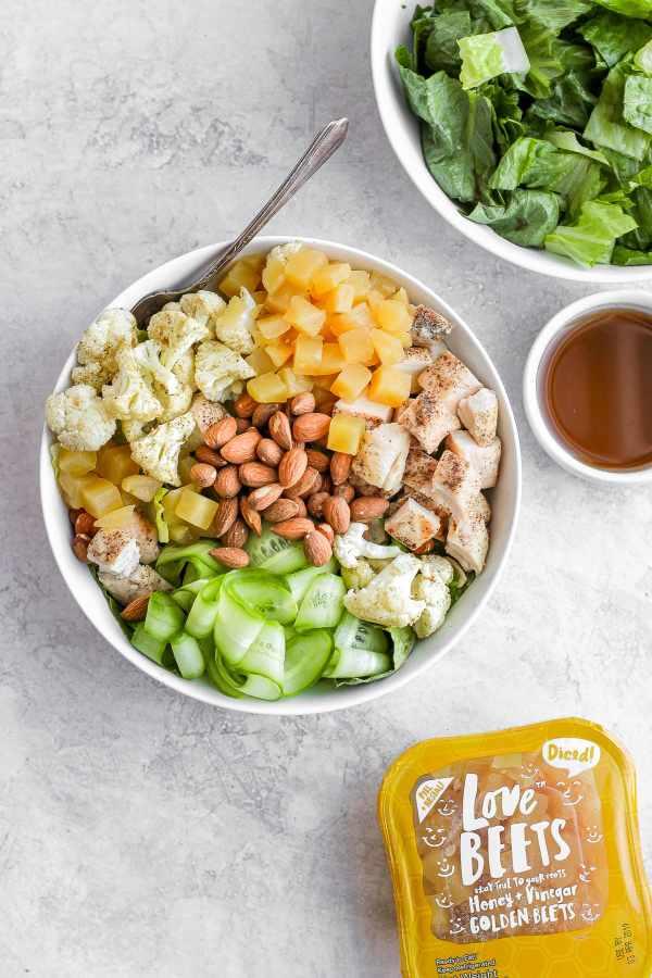 Paleo Roasted Cauliflower Mason Jar Salad