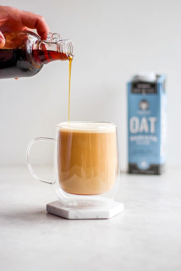 Creamy Maple Oat Milk Latte