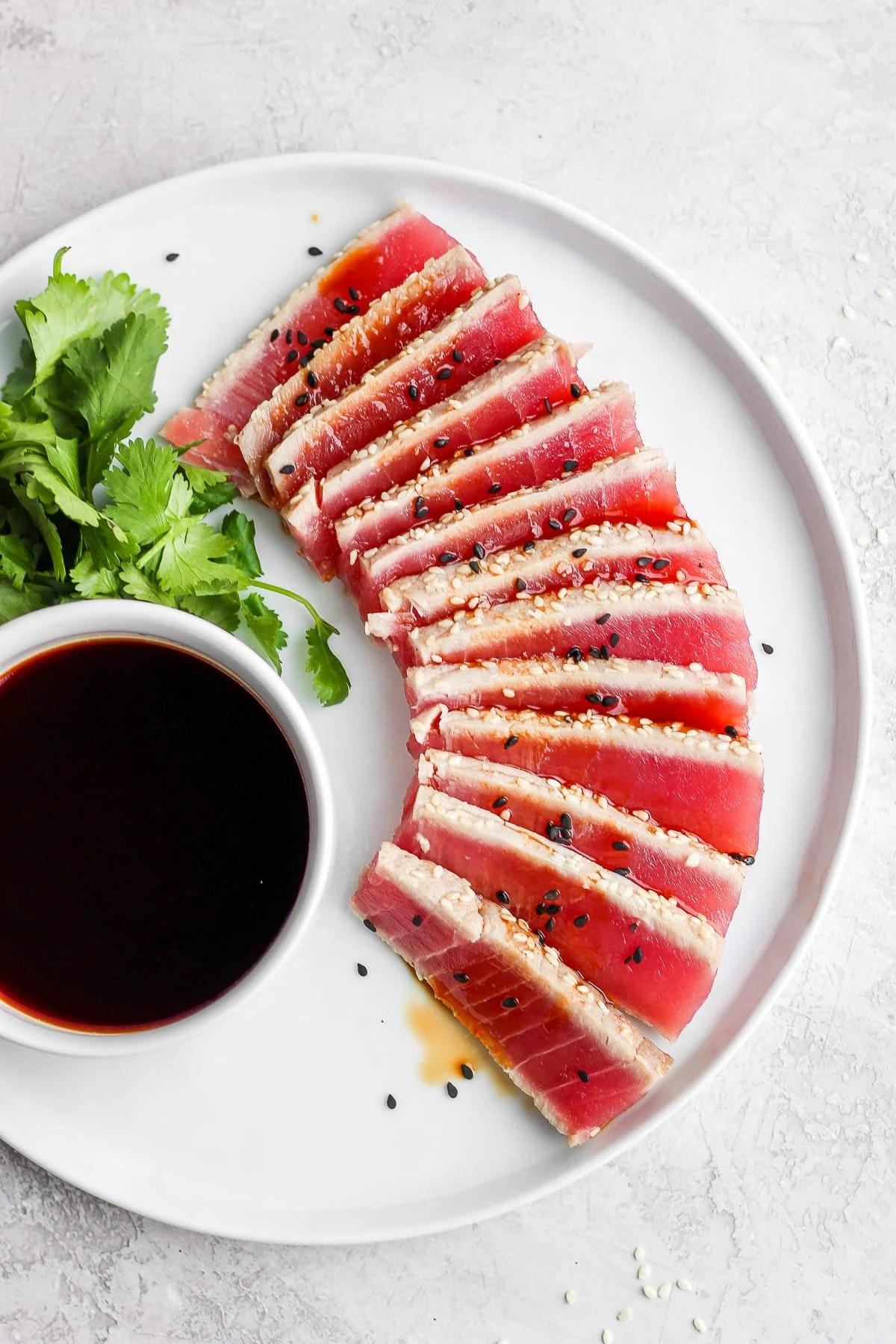 Simple Seared Ahi Tuna Recipe Whole30 Paleo The Wooden Skillet