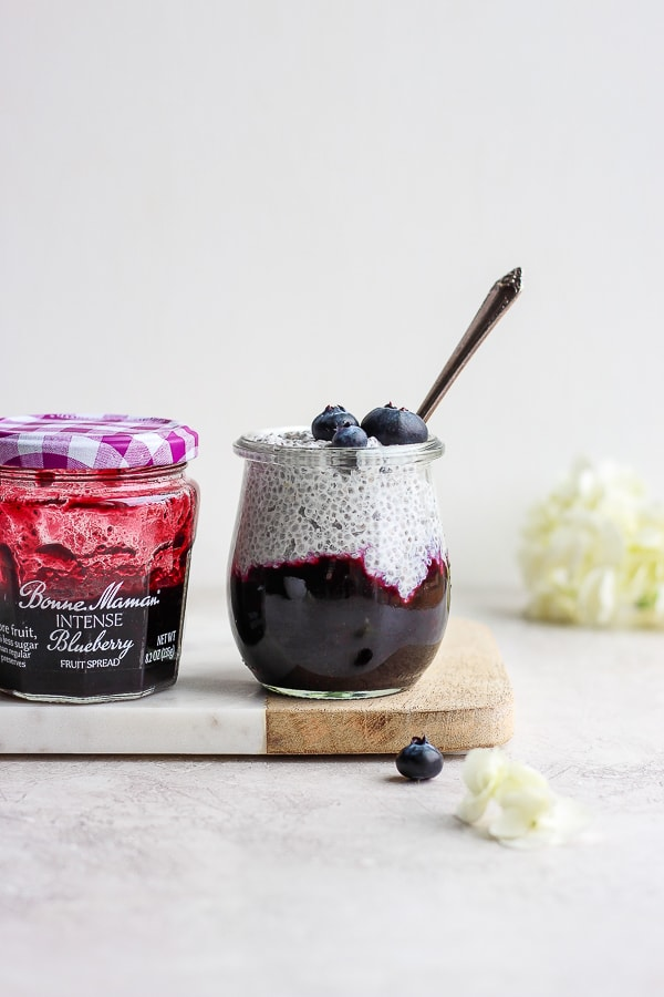 Dreamy Coconut Chia Pudding with Blueberries - a quick and easy breakfast option that is dairy-free, gluten-free and plant-based!