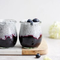Dreamy Coconut Chia Pudding with Blueberries
