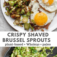Easy Shaved Brussel Sprouts