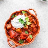 Healthy Pumpkin Chili Recipe (Vegan)