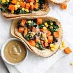 Sweet Potato Tacos + Maple Tahini