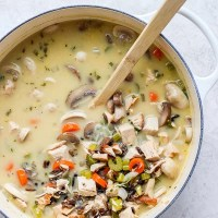 Leftover Turkey Wild Rice Soup