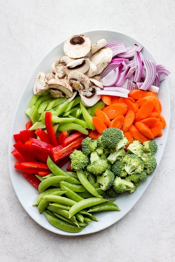 Veggie Lo Mein veggies