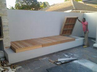 Wooden Balau Pool Pump Covers Durban July 2014