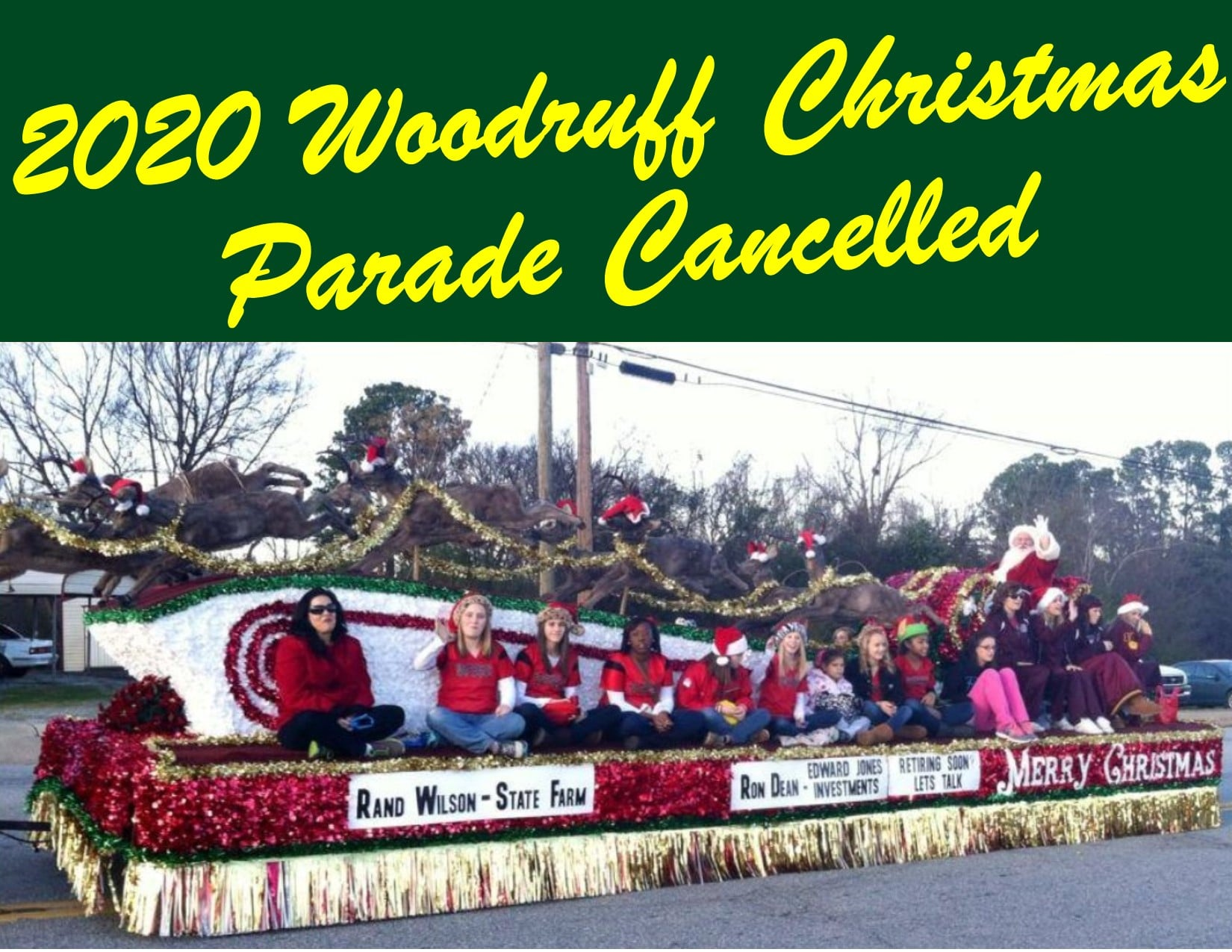 Woodruff Christmas Parade Called Off Per COVID Restrictions