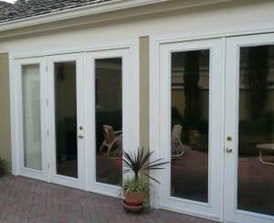 Double exterior french doors