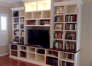 Living room bookcase/entertainment center