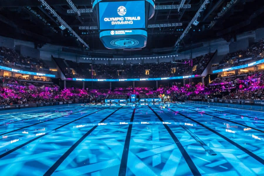 Precaution First For The Olympic Swimming Trials