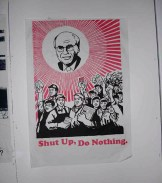 Shut Up poster by Bernie Slater