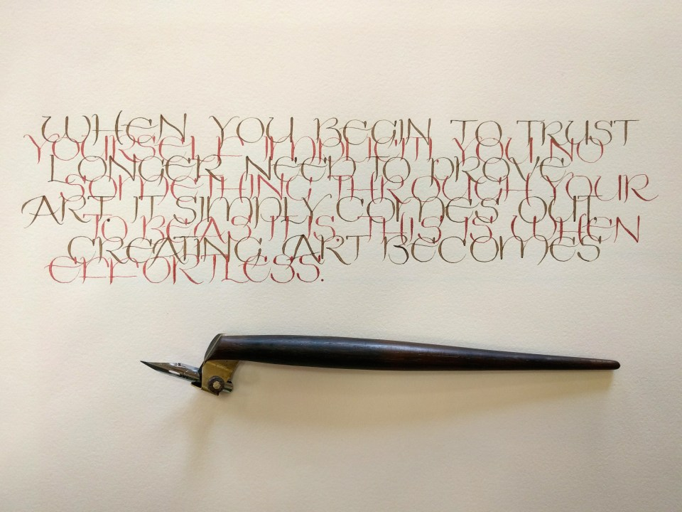 john-daido-looris-words-in-uncial by Murielle Doré