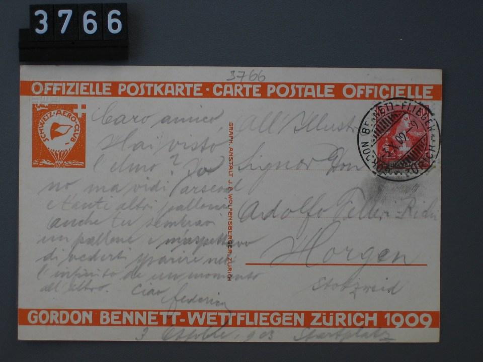 Zürich, Gordon Bennett-Wettfliegen 30. Sept. 3. Okt. 1909