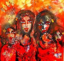 Brindarica Bose, Frauen, 2 x 1.5m mixed media