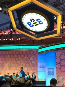 Dev Jaiswal of Mississippi spelled both his words correctly and will advance to the Champion Finals tonight.