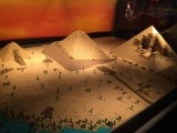The Pyramids of Egypt, all built with LEGOs, were amazingly detailed.