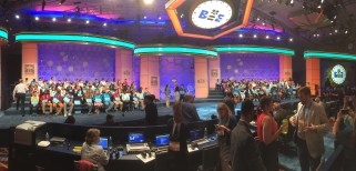 The onstage portion of the Spelling Bee is exciting and nerve-wracking!