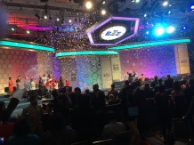 Ananya spells marocain correctly to win the 2017 Scripps National Spelling Bee.
