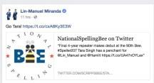 Lin-Manuel Miranda tweeted about me!