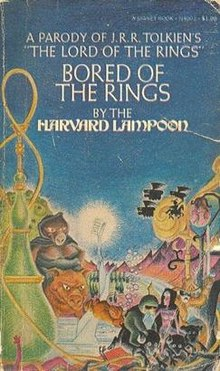 Harvard Lampoon's Bored of the Rings parody of the J. R. R. Tolkien classic
