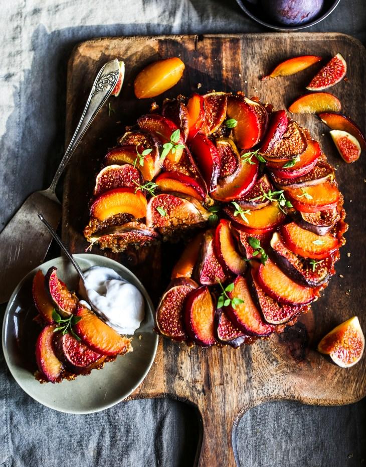 Rebel Recipes' Plum, Fig & Almond Cake