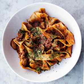 Fresh-pappardelle-pasta-bolognese-Italian-restaurant-Aldgate-St-Katharine-Docks-1