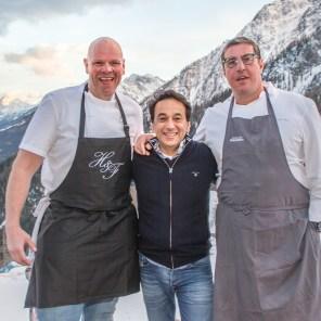 Chefs @momentumski_ @claudebosi1 - taken at @lachaumiere.courmayeur
