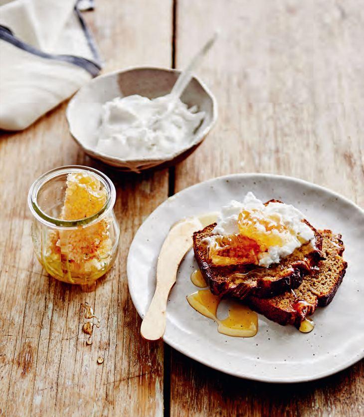 Kimberly Parsons' Banana, Almond & Chia Bread with Coconut Yoghurt