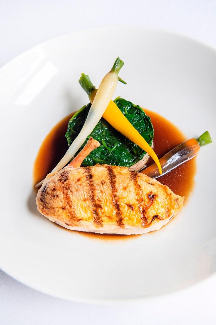 Town House_Cornfed chicken breast, braised legs, heritage carrots, spinach_Portrait 2_300dpi_Sim