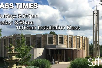 Installation Weekend Mass Times