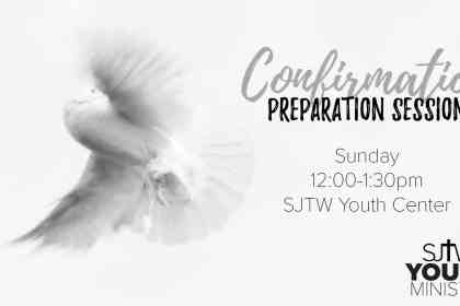 Confirmation Prep Sunday from 12-1:30 at the Youth Center