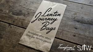 Lenten Journey Bags available this weekend