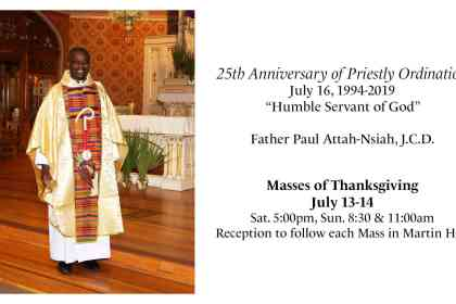 Father Paul's Silver Jubilee